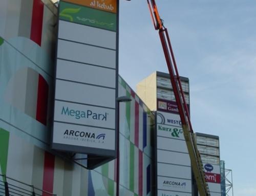 Megapark – Illuminated Sign