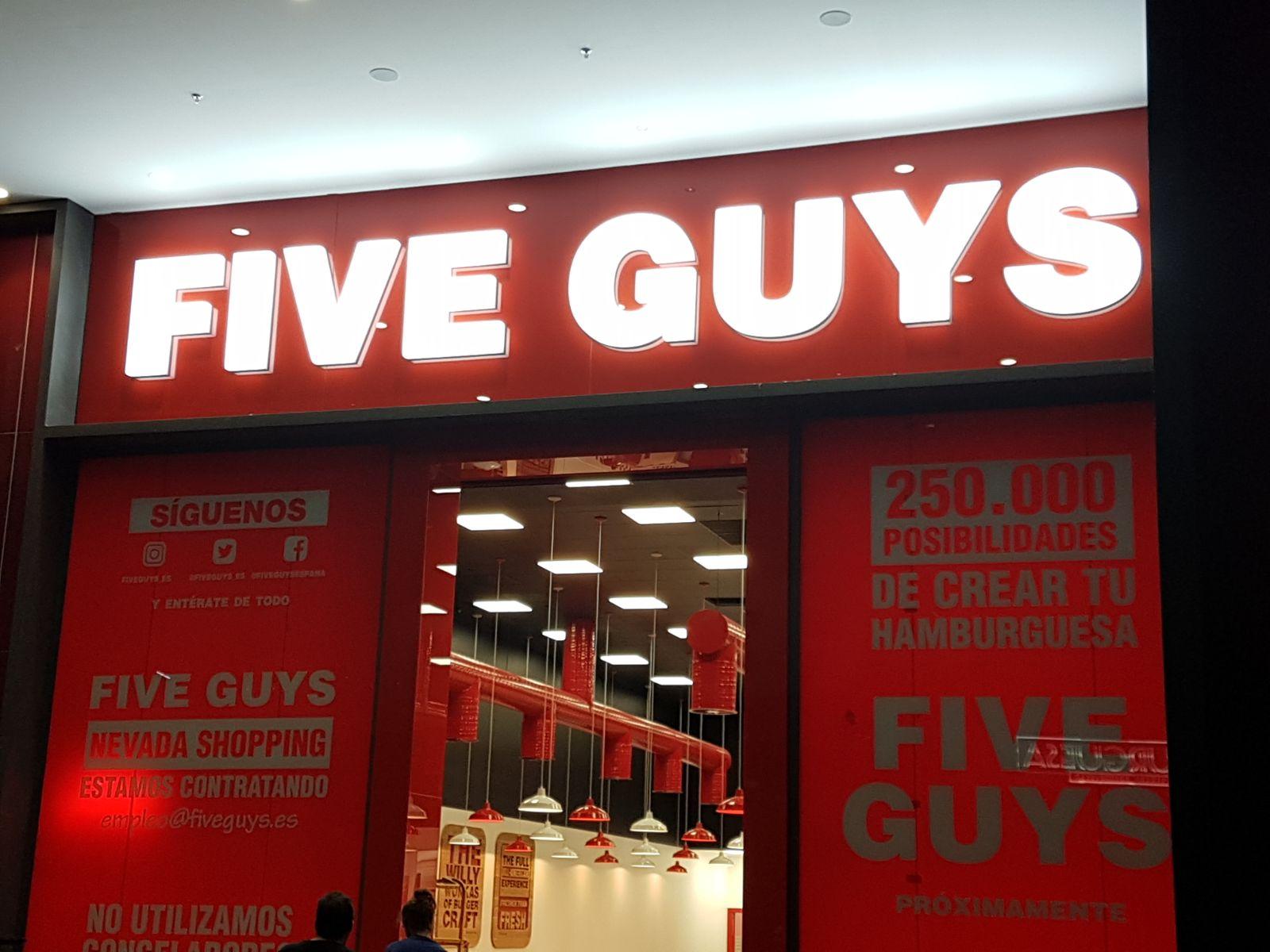 FIVE GUYS - Illuminated Sign 1