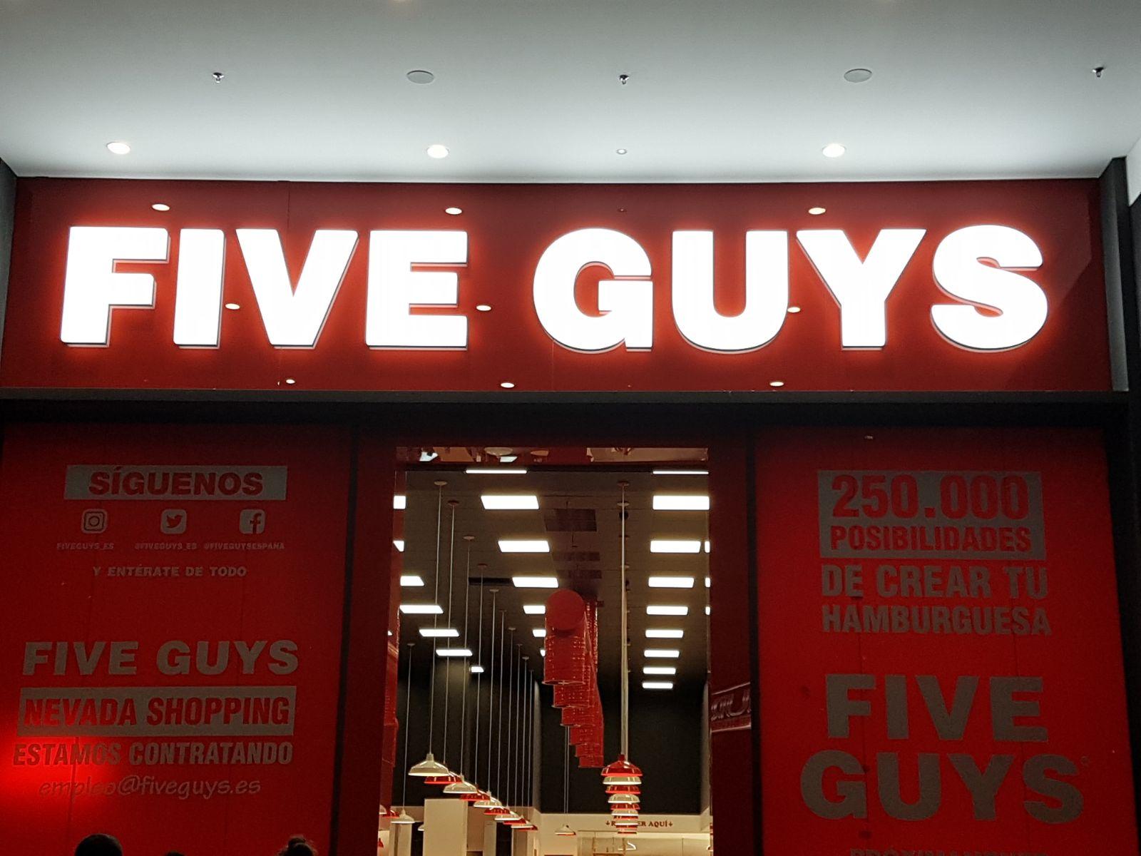 FIVE GUYS - Illuminated Sign 2